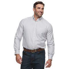 Big & Tall Croft & Barrow® Regular-Fit Easy-Care Dobby Button-Down Shirt