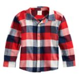 Toddler Boy Jumping Beans® Plaid Flannel Button Down Shirt