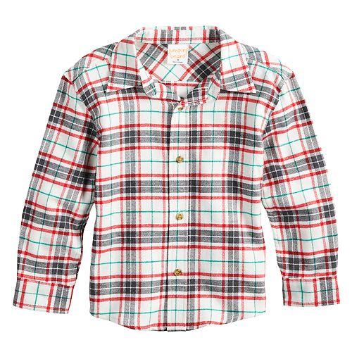 99efb655 Toddler Boy Jumping Beans® Plaid Flannel Button Down Shirt
