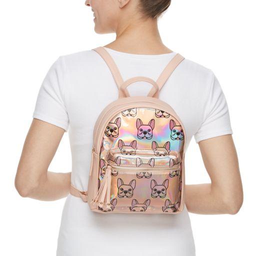 Printed Hologram Mini Backpack