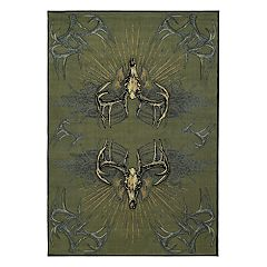 United Weavers Designer Contours Buck Wear Legend Killers Rug