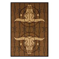 United Weavers Designer Contours Buck Wear Cowboy Strong Rug