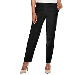 Petite Croft & Barrow® Pull-On Mid-Rise Corduroy Pants