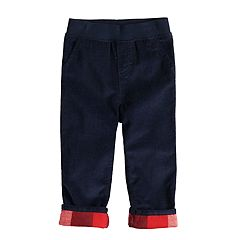 Baby Boy Jumping Beans® Plaid Cuffed Corduroy Pants