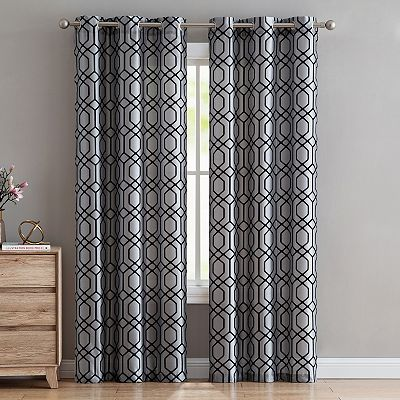 2-Pack VCNY Irongate Flocked Window Curtains Deals