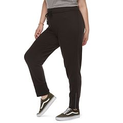 Juniors' Plus Size SO® Zipper Cuff Jogger Sweatpants