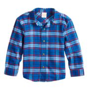 Baby Boy Jumping Beans® Plaid Flannel Button Down Shirt