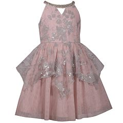 Girls 7-16 Bonnie Jean Sequined Peplum Dress