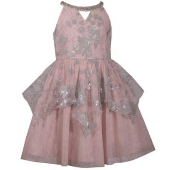 Girls 7-16 Bonnie Jean Sequined Peplum Dress