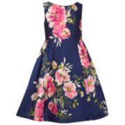 Girls 7-16 Bonnie Jean Printed Mikado Dress