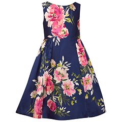 Girls 7-16 Bonnie Jean Printed Mikado Dress