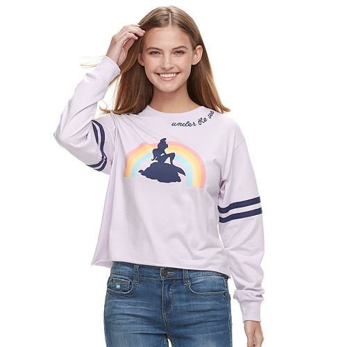 "Disney's The Little Mermaid Juniors' ""Under The Sea"" Crop Tee"