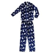 Boys 4-20 Jellifish Flannel Printed 2-Piece Pajama Set