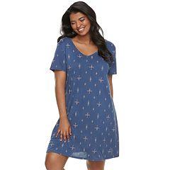 Juniors' Plus Size Mudd® T-Shirt Dress