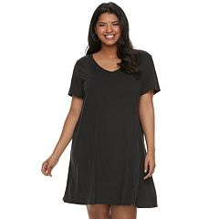 Juniors' Plus Size Mudd® T-Shirt Dress
