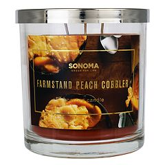 SONOMA Goods for Life™ Farmstand Peach Cobbler 14-oz. Candle Jar
