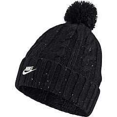 new style e37a9 7554a Women s Nike Cable Knit Beanie with Removable Pom-Pom