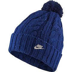 Women's Nike Cable Knit Beanie with Removable Pom-Pom