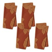 Celebrate Fall Together Solid Orange Napkin 4-pack
