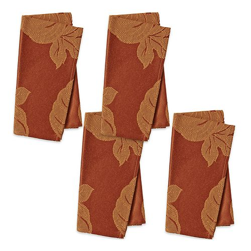Celebrate Fall Together Solid Orange Napkin 4-pack