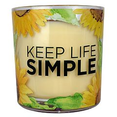SONOMA Goods for Life™ Sunflower Applewood Cardamom 14-oz. Candle Jar