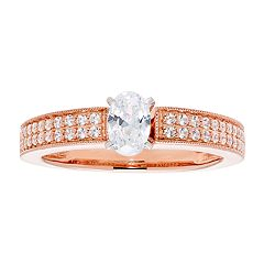 14k Gold Oval Cut 3/4 Carat T.W. IGL Certified Diamond Engagement Ring