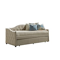 Hillsdale Furniture Jamie Tufted Daybed & Trundle