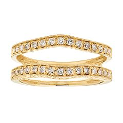 14k Gold 1/3 Carat T.W. Diamond Enhancer Wedding Ring