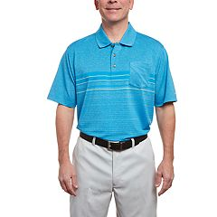 Men's Pebble Beach Heathered Jersey Striped Polo