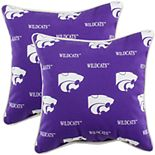 College Covers Kansas State Wildcats 2-Piece Outdoor Decorative Pillows