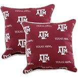College Covers Texas A&M Aggies 2-Piece Outdoor Decorative Pillows