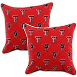 College Covers Texas Tech Red Raiders 2-Piece Outdoor Decorative Pillows