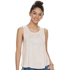 Juniors' About A Girl Heart State Swing Tank