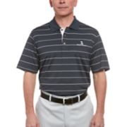 Men's Pebble Beach Striped Performance Golf Polo