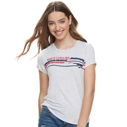 Juniors' About A Girl Striped State Tee
