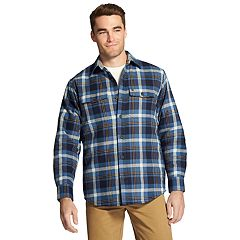 Men's IZOD Classic-Fit Plaid Shirt Jacket