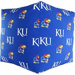 College Covers Kansas Jayhawks Cube Cushion Pouf Bean Bag Ottoman