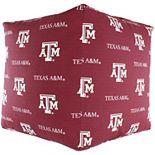 College Covers Texas A&M Aggies Cube Cushion Pouf Bean Bag Ottoman