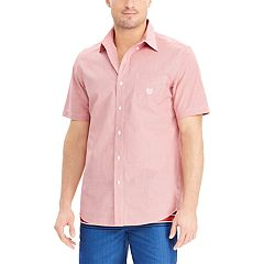Big & Tall Chaps Classic-Fit Easy-Care Woven Button-Down Shirt