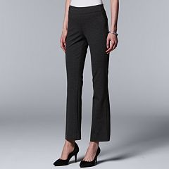 Petite Simply Vera Vera Wang Everyday Luxury Pull-On Ponte Bootcut Pants