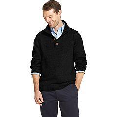 Men's IZOD Classic-Fit Button Mockneck Pullover Sweater