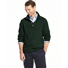 Men's IZOD Classic-Fit Button Mockneck Pullover Sweater