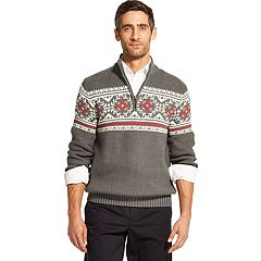 Men's IZOD Classic-Fit Fairisle Quarter-Zip Pullover Sweater