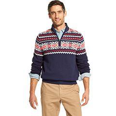 Men's IZOD Classic-Fit Fairisle Quarter-Zip Pullover Sweater