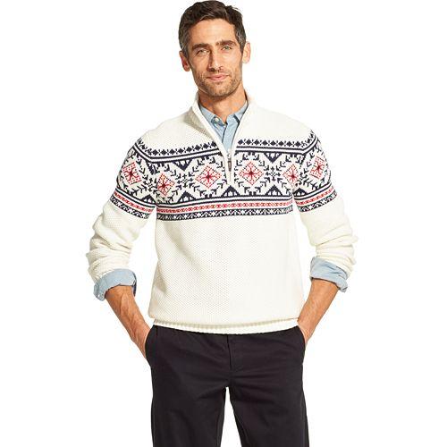 d576148a5a Men's IZOD Classic-Fit Fairisle Quarter-Zip Pullover Sweater