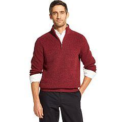 Men's IZOD Classic-Fit Sherpa-Lined Quarter-Zip Pullover Sweater