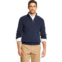 Men's IZOD Classic-Fit Sherpa-Lined Quarter-Zip Pullover Sweater