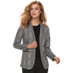 Womens Black Blazers Suit Jackets Tops Clothing Kohl S