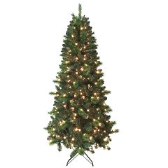 St. Nicholas Square® 7-ft. Spruce Pre-Lit Artificial Christmas Tree