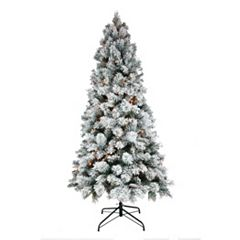 St. Nicholas Square® 7-ft. Flocked Pine Pre-Lit Artificial Christmas Tree